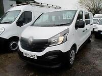 2015 15 RENAULT TRAFIC 1.6 DCI 115 BHP FACTORY 6 SEAT CREW CAB BUSINESS A/C DIE