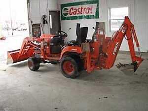Tracteur Kubota BX22 backhoe