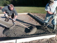 Concrete Pads, Shed, Hot Tub Garage, Patio, Walkways Driveways