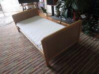 Cot bed beech wood
