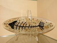 OOAK..Fused glass Platter Signed and Dated