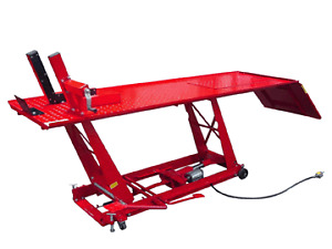 Motorcycle air or hydraulic table lift