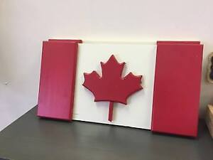 Wood Canadian Flag