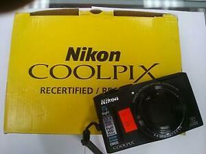 NIKON COOLPIX S8100 12.1MP FULL HD DIGITAL CAMERA BLACK - USED $89