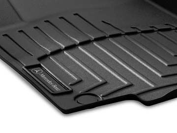 2012 2015 Mercedes Benz ML Series OEM Black All season floor trays W166 chassis