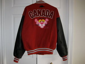 MENS ROOTS JACKET WITH PINK PANTHER LOGO