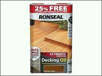 RONSEAL Ultimate protection decking oil, Natural Cedar. 5 litres, worth £30+