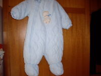 BABY BLUE SNOWSUIT WITH HOOD