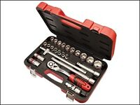 Faithfull 24 piece Metric 1/2 inch Drive Socket Set