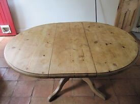 Wooden dining table and 4 wooden chairs