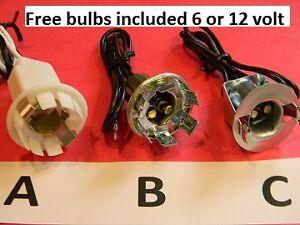 Chevrolet-Chevelle-Nova-Corvair-Corvette-Camaro-Impala-1154-1157-sockets-bulbs