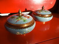 Chinese Cloisonné Enamel Lidded Dishes