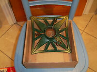 Christmas tree stand - cast iron, green and gold