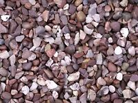 20 mm Staffordshire pink garden and driveway chips/ gravel/ stones