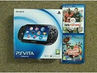 PS Vita boxed + games etc