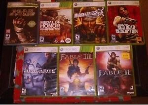 like new xbox 360 games for sale $10 each