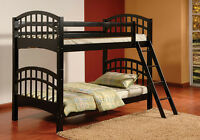 MATTRESS PLAZA Twin Over twin BRAND NEW wooden Bunk Bed sale !