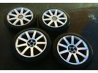 """18"""" RS4 STYLE ALLOYS 5x100 and 5x112 PCD FIT Audi TT A3 A4 A6 VW Golf Passat Bora Seat Leon Skoda"""