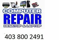 Computer Repair $20 NO fix NO fees call 4038002491