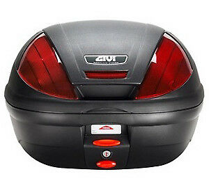 Givi E 370 N Monolock Motorcycle Scooter Top Box Luggage Case & Universal Plate