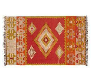 Pottery barn rug new used hand woven area ebay for Tappeti kilim ikea