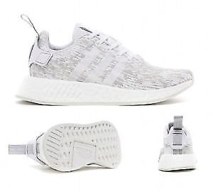 Adidas NMD R2 Womens in White/Grey, size 7