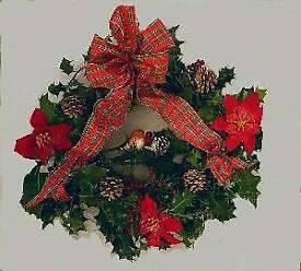 Holly wreath handmade