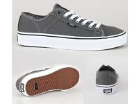 "Brand New Boxed VANS ""FERRIS"" Shoes in Charcoal UK 8.5"