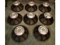 For sale 8× 18 inch celestions Ftr4080 fd 1000watts bass speakers need reconing £320.00