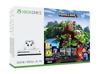 **SEALED** XBOX ONE S & MINECRAFT GAME BUNDLE & 1 MONTH GAME PASS & 3 MONTHS XBOX LIVE GOLD, 500GB