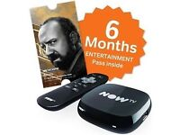 Now Tv box,includes 6 months entertainment pack,new