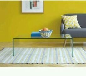 Glass habitat coffe table
