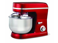 Accent Red Morphy Richards Stand Mixer 5l - like new, used once only