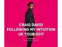 Craig David @ London O2 Arena - 26th March 2017 (2 tickets)