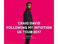 Craig David Concert Tickets! Manchester 2x Seating Tickets!!