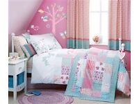 Girls Ditsy Print Set: Curtains, single bed set, cushions and throw from NEXT Folk collection