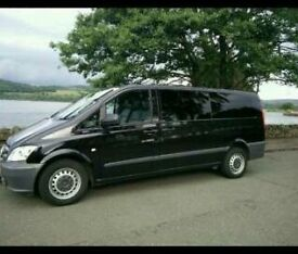 8 seater minibus and driver for hire