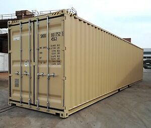 NEW 40' HC CONTAINERS. 20' DD ONE TRIP CONTAINERS