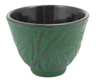 Bamboo Cast Iron Teacup (Japanese Cast Iron Teacup Bamboo Green )