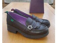 KICKERS brown loafer shoes size 38 (UK 5)