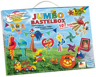 Jumbo Bastelkoffer Bastelbox 107 teilig mit Anleitungen und Schnittmusterbogen ()