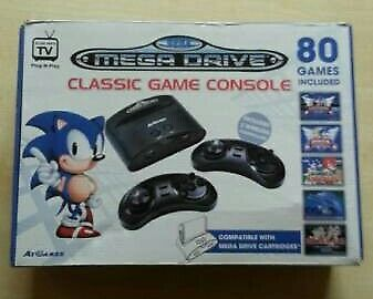 Sega Mega Drive Classic Game Console with 80 games (plug and play)