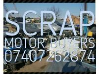 Scrap your car today 1 hour free collection service