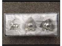 BNIB silver first tooth/first curl christening new baby gift