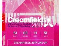 Three day bronze creamfields camping tickets