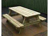 Heavy duty picnic tables