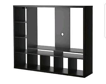 Ikea Lland Black Brown Tv Unit Stand Table With Door X