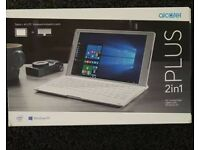 Alcatel tablet/pc with removable keyboard. Brand new sealed