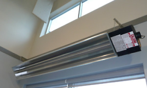 Lowest Clearances in the Industry! Calcana Infrared Heaters