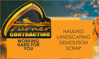 Turner Contracting Scrap Removal, Demolition, Hauling, Landscape